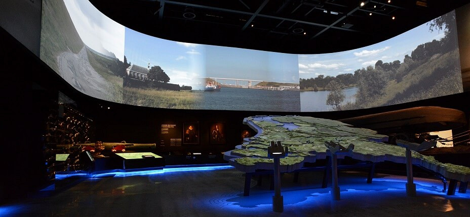 projectiescherm bij Nationaal Militair-Museum